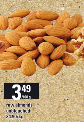 Raw Almonds Unbleached