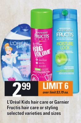 L'oréal Kids Hair Care Or Garnier Fructis Hair Care Or Styling
