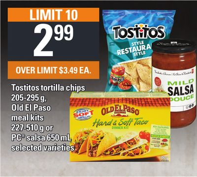 Tostitos Tortilla Chips - 205-295 G - Old El Paso Meal Kits - 227-510 G Or PC Salsa - 650 Ml