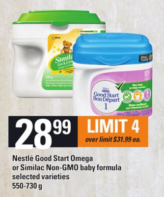 Nestlé Good Start Omega Or Similac Non-gmo Baby Formula - 550-730 g