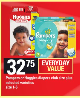 Pampers Or Huggies Diapers Club Size Plus - Size 1-6