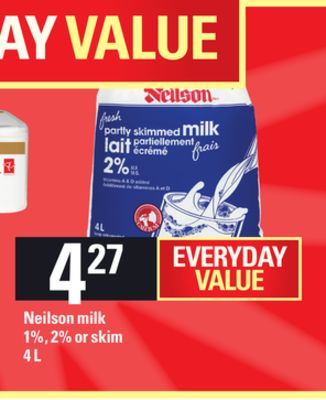 Neilson Milk - 1% - 2% Or Skim - 4 L
