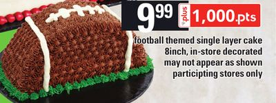 Football Themed Single Layer Cake