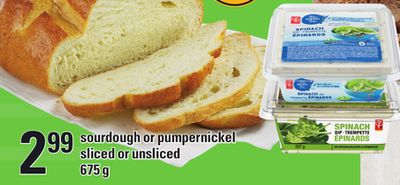 Sourdough Or Pumpernickel Sliced Or Unsliced - 675 g