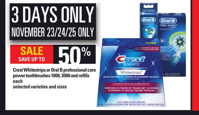 Crest Whitestrips Or Oral B Professional Care Power Toothbrushes 1000 - 3000 And Refills