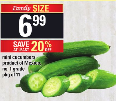 Mini Cucumbers - Pkg of 11