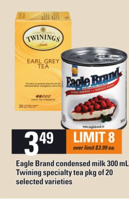 Eagle Brand Condensed Milk 300 Ml Or Twining Specialty Tea - Pkg of 20