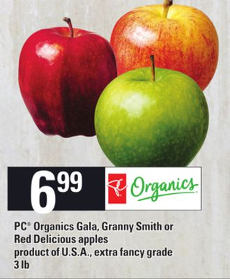 PC Organics Gala - Granny Smith Or Red Delicious Apples - 3 Lb