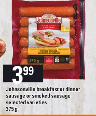 Johnsonville Breakfast Or Dinner Sausage Or Smoked Sausage - 375 g