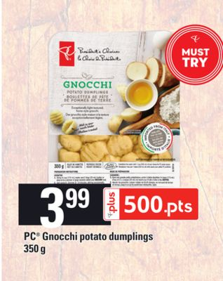 PC Gnocchi Potato Dumplings - 350 g