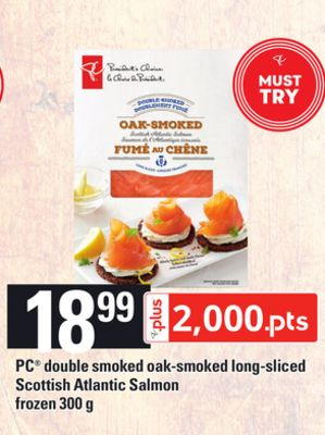 PC Double Smoked Oak-smoked Long-sliced Scottish Atlantic Salmon - 300 g
