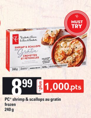 PC Shrimp & Scallops Au Gratin - 240 g