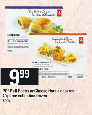 PC Puff Pastry Or Cheese Hors D'oeuvres 40 Piece Collection - 800 g