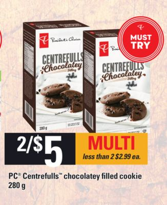PC Centrefulls Chocolatey Filled Cookie - 280 g
