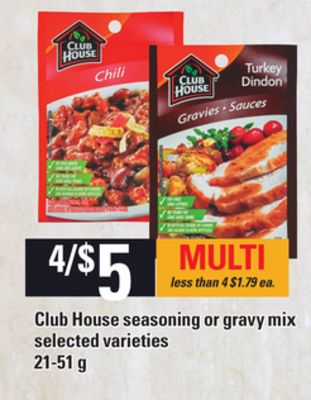 Club House Seasoning Or Gravy Mix - 21-51 g
