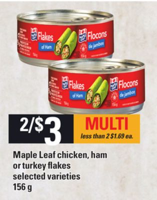 Maple Leaf Chicken - Ham Or Turkey Flakes - 156 g