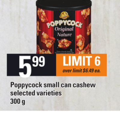 Poppycock Small Can Cashew - 300 g