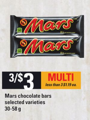 Mars Chocolate Bars - 30-58 g
