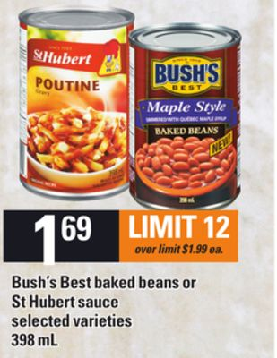 Bush's Best Baked Beans Or St Hubert Sauce - 398 mL