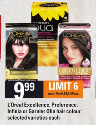 L'oréal Excellence - Preference - Infinia Or Garnier Olia Hair Colour