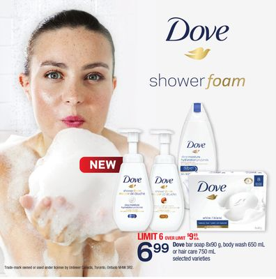 Dove Bar Soap - 8x90 g - Body Wash - 650 mL Or Hair Care - 750 mL