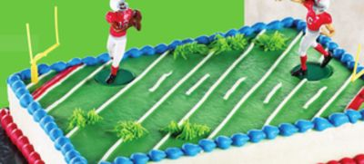 1/4 Slab Football Theme Cake