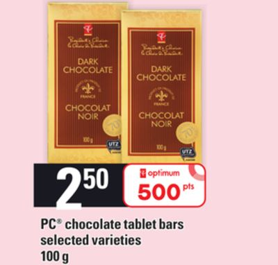 PC Chocolate Tablet Bars - 100 g