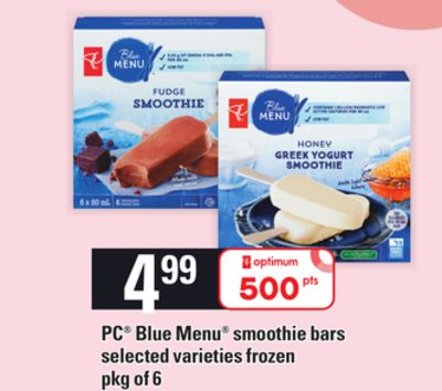 PC Blue Menu Smoothie Bars - Pkg of 6