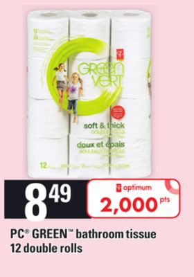 PC Green Bathroom Tissue - 12 Double Rolls