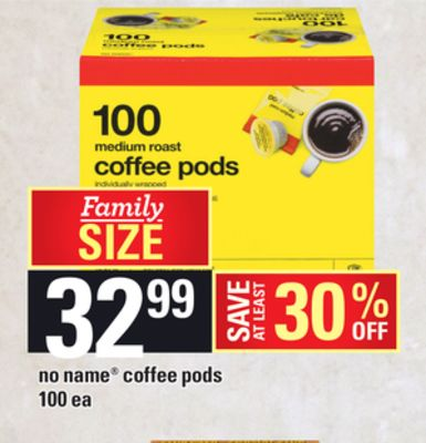 No Name Coffee PODS - 100 Ea