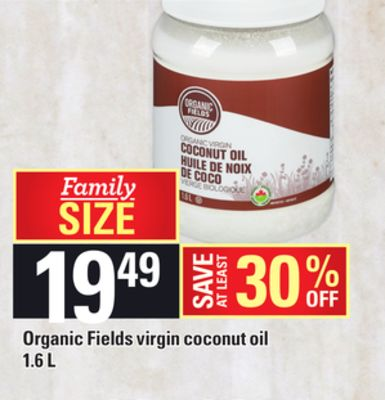 Organic Fields Virgin Coconut - Oil 1.6 L
