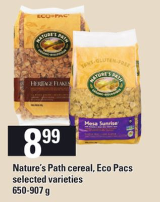 Nature's Path Cereal - Eco Pacs - 650-907 g