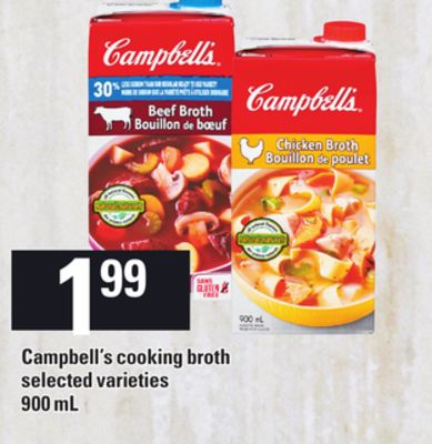 Campbell's Cooking Broth - 900 mL