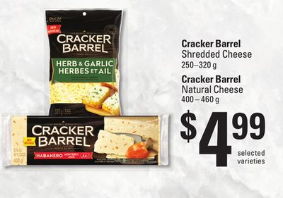 Cracker Barrel Shredded Cheese - 250–320 g Cracker Barrel Natural Cheese - 400 – 460 g
