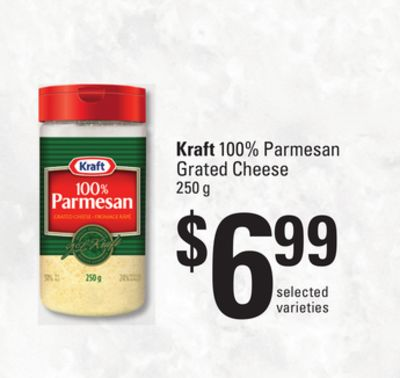 Kraft 100% Parmesan Grated Cheese - 250 g