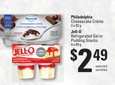 Philadelphia Cheesecake Crème 2 X 92 G Jell-o Refrigerated Gel Or Pudding Snacks 4 X 89 G