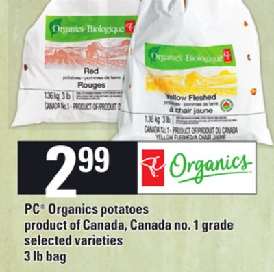 PC Organics Potatoes - 3 Lb Bag
