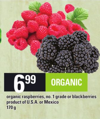 Organic Raspberries Or Blackberries - 170 g