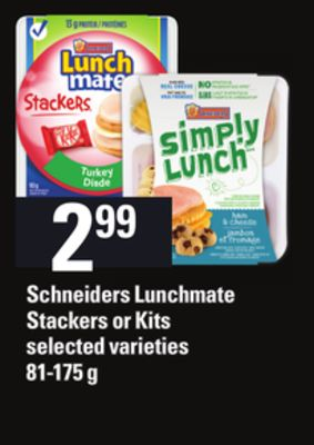 Schneiders Lunchmate Stackers Or Kits - 81-175 G