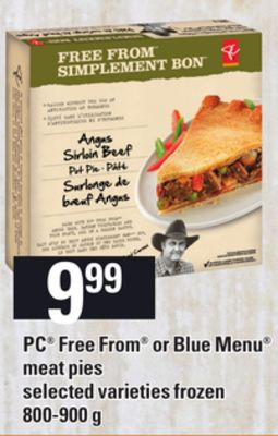 PC Free From Or Blue Menu Meat Pies - 800-900 g