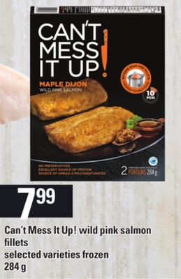 Can't Mess It Up! Wild Pink Salmon Fillets - 284 g