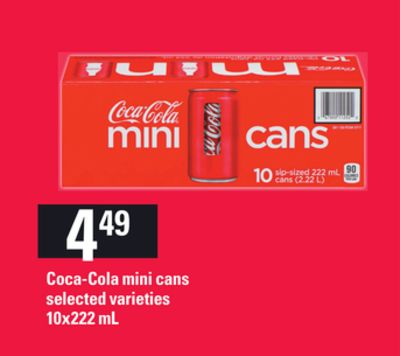 Coca-cola Mini Cans - 10x222 mL
