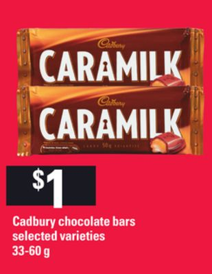 Cadbury Chocolate Bars - 33-60 g