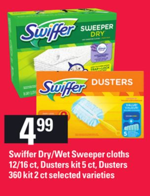Swiffer Dry/wet Sweeper Cloths 12/16 Ct - Dusters Kit 5 Ct - Dusters 360 Kit 2 Ct