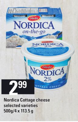 Nordica Cottage Cheese - 500g/4 X 113.5 g