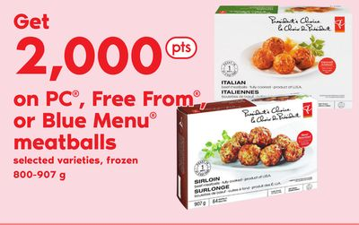 PC - Free From - Or Blue Menu Meatballs - 800-907 g