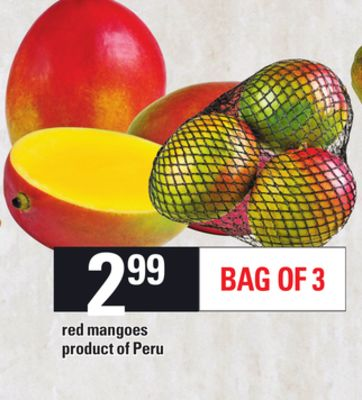 Red Mangoes - Bag Of 3