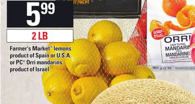 Farmer's Market Lemons Or PC Orri Mandarins - 2 Lb