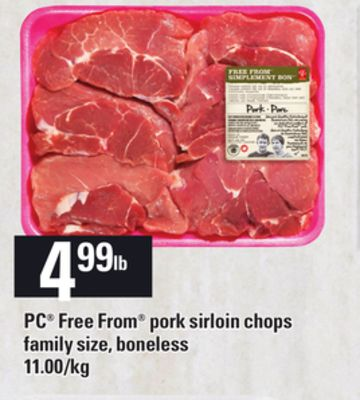 PC Free From Pork Sirloin Chops