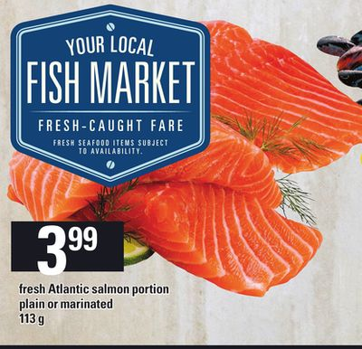 Fresh Atlantic Salmon Portion.113 g